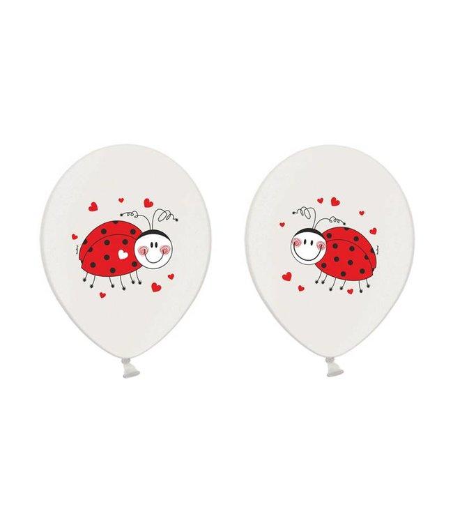 Partydeco Lieveheersbeestjes Ballonnen - 6 stuks - 30 cm