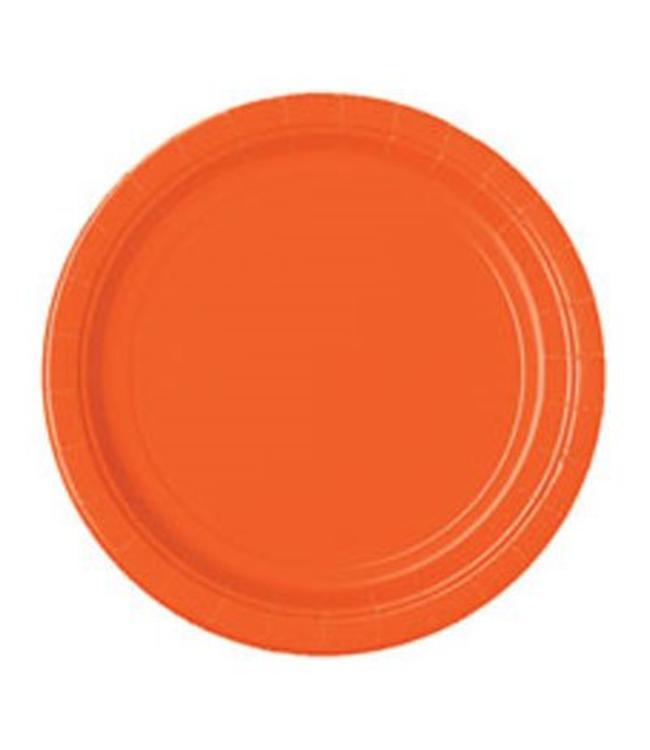 Unique Oranje Borden - 16 stuks - 23 cm
