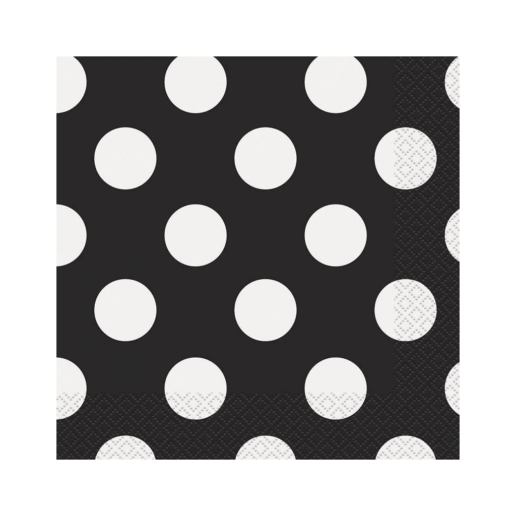 ... stippen polka dots servetten zwart met witte stippen 16 stuks € 2 50