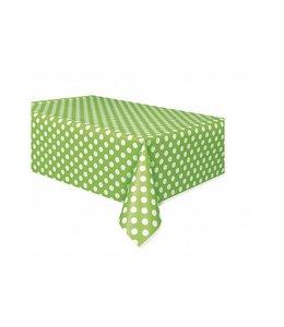 Unique Polka Dots Tafelkleed Groen met Witte stippen - 1,37 x 2,74 meter