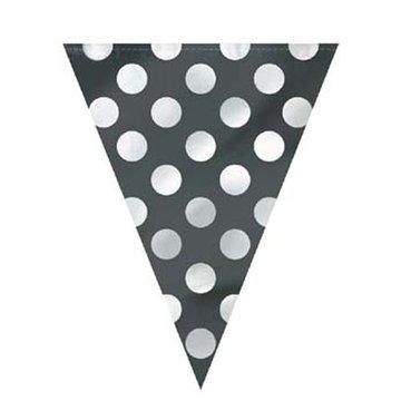 Unique Polka Dots Vlaggenlijn Zwart met Witte stippen - 3,6 meter