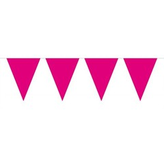 Folat Vlaggenlijn Roze - 6 meter - plastic