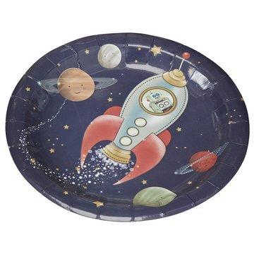 Ginger Ray Space Adventure Borden - 8 stuks - 23 cm