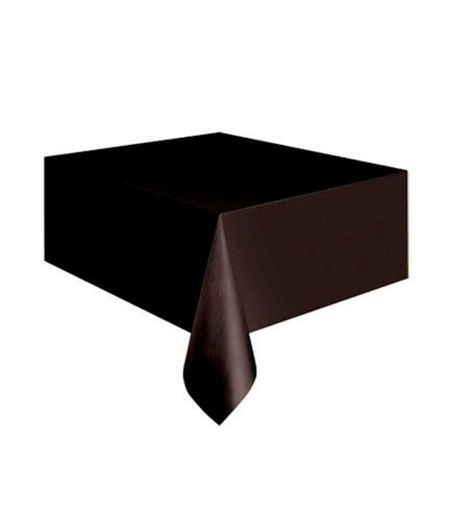 Unique Zwart Tafelkleed - 1,37 x 2,74 meter - plastic