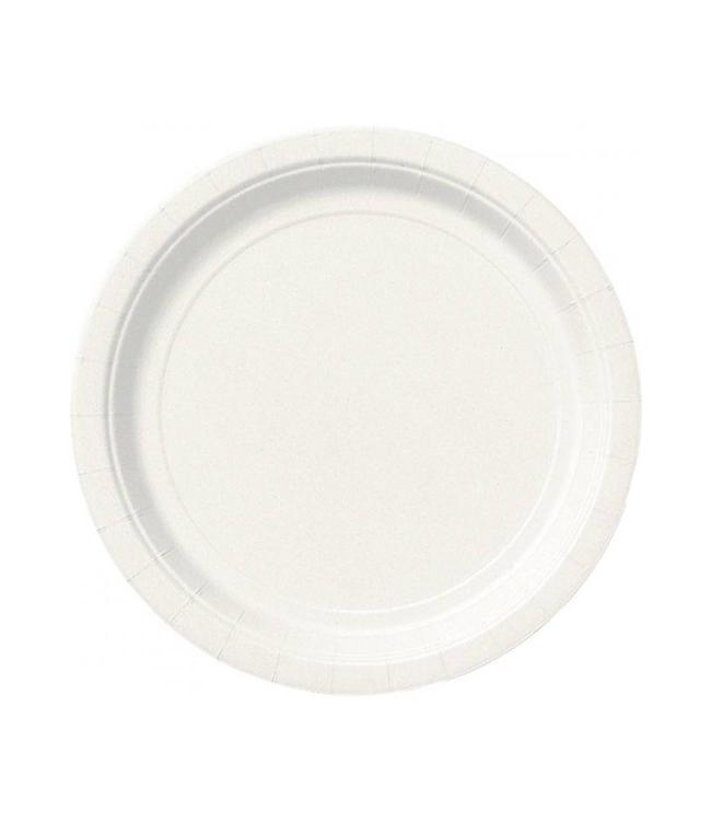 Unique Witte Borden - 16 stuks - 23 cm