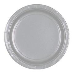 Unique Zilveren Borden - 16 stuks - 23 cm