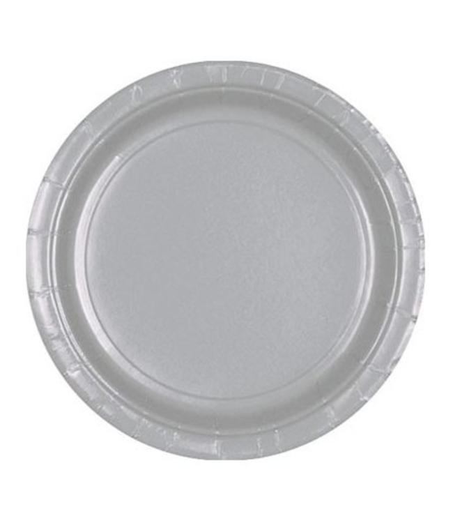 Unique Zilveren Borden - 8 stuks - 23 cm