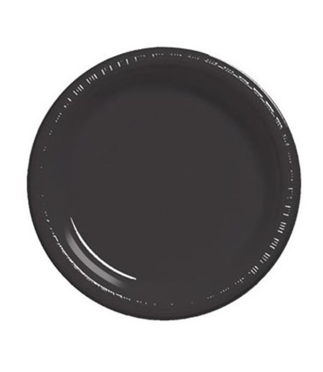Unique Zwarte Borden - 16 stuks - 23 cm