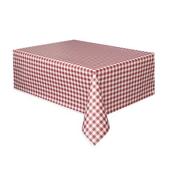 Amscan Tafelkleed Rood Wit Geruit - 1,37 x 2,74 meter - plastic