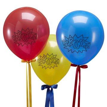 Ginger Ray Comic Superhelden 'Kaboom' Ballonnen - 10 stuks - 22 cm