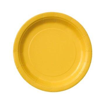 Unique Gele Bordjes - 8 stuks - 18 cm