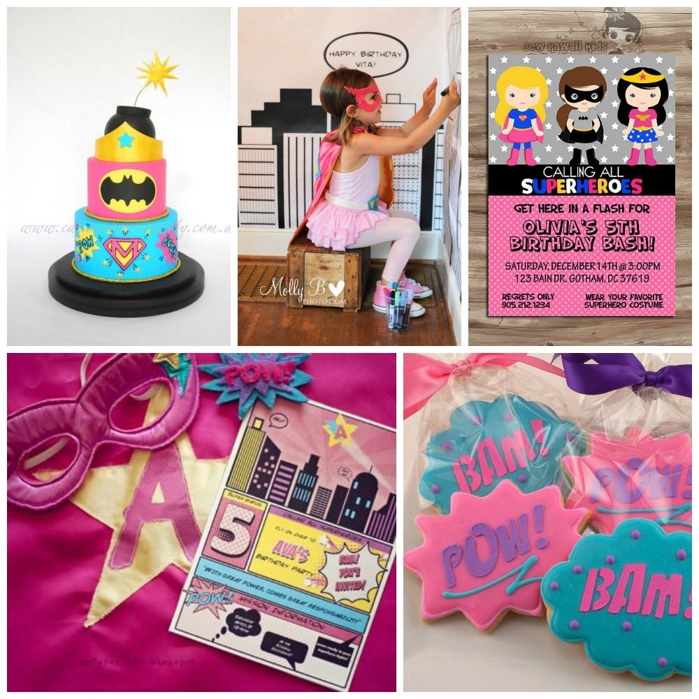 Inspiratie voor een roze superheldenfeest voor meisjes