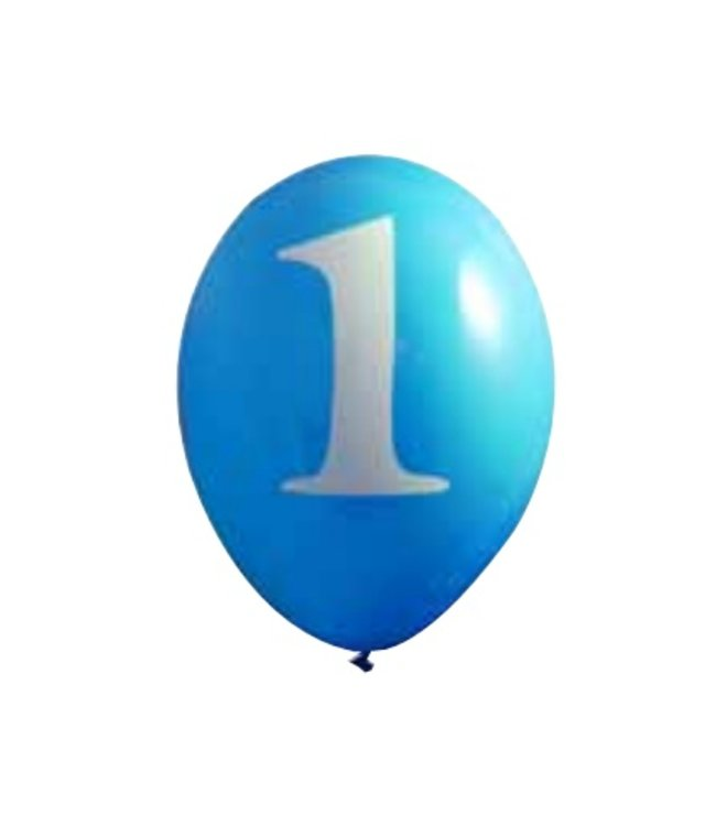 Creative Party 1 Jaar Ballonnen Lichtblauw - 6 stuks - 30 cm