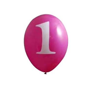 Creative Party 1 Jaar Ballonnen Roze - 6 stuks - 30 cm