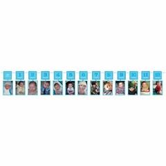 Amscan Baby's Eerste Jaar Fotoslinger Blauw - 3, 7 meter