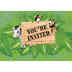 Creative Converting Safari Avontuur Uitnodigingen - 8 stuks