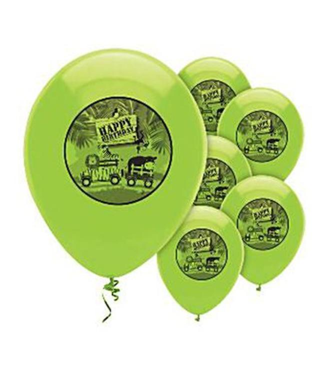 Creative Party Safari Avontuur Ballonnen - 6 stuks - 30 cm