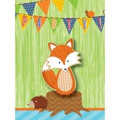 Creative Converting Forest Fox Uitnodigingen - 8 stuks
