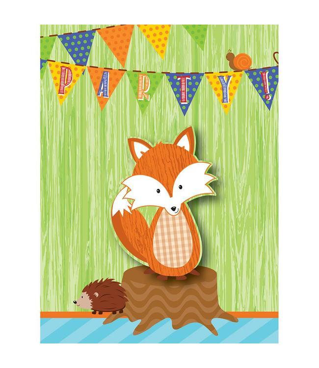 Creative Party Forest Fox Uitnodigingen - 8 stuks