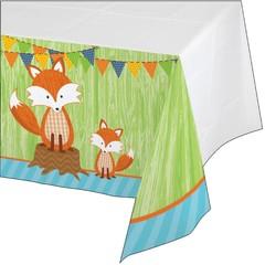 Creative Converting Forest Fox Tafelkleed - 137 cm x 259 cm - plastic