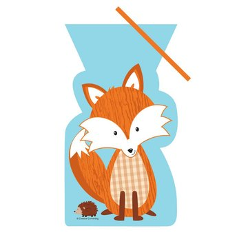 Creative Party Forest Fox Uitdeelzakjes - 20 stuks - plastic