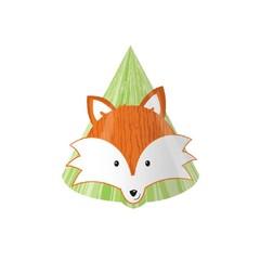 Creative Converting Forest Fox Hoedjes - 8 stuks