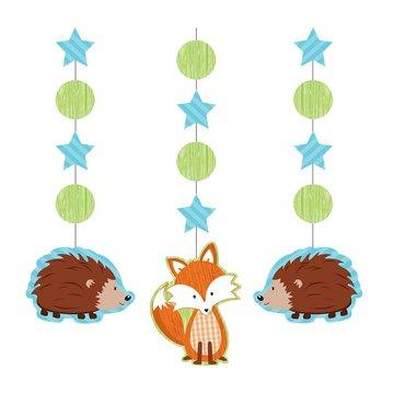 Creative Party Forest Fox Hangdecoraties - 3 stuks
