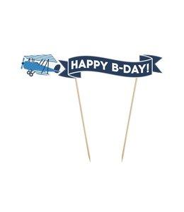Partydeco Vliegtuigjes Cake Topper