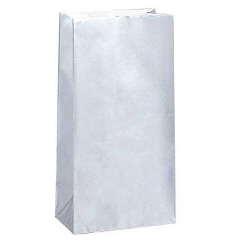 Unique Zilveren Uitdeelzakjes - 10 stuks - papier