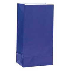 Unique Donkerblauwe Uitdeelzakjes - 12 stuks - papier