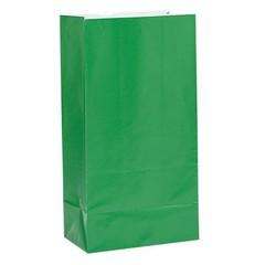 Unique Donkergroene Uitdeelzakjes - 12 stuks - papier