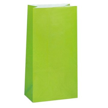 Unique Lichtgroene Uitdeelzakjes - 12 stuks - papier