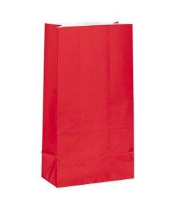 Unique Rode Uitdeelzakjes - 12 stuks - papier