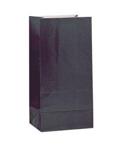 Unique Zwarte Uitdeelzakjes - 12 stuks - papier