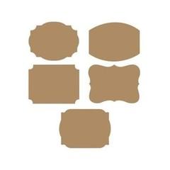 Creative Converting Kraft Stickers - 10 stuks