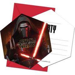Decorata Party Star Wars - The Force Awakens Uitnodigingen - 6 stuks