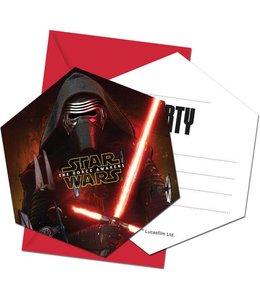 Star Wars - The Force Awakens Uitnodigingen - 6 stuks