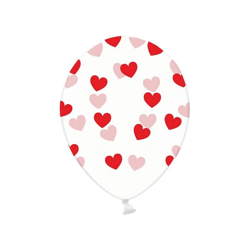 Ballonnen met rode hartjes crystal clear hieppp hieppp - Deco slaapkamer jongen jaar ...