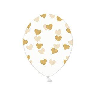 Ballonnen met goudkleurige hartjes crystal clear hieppp hieppp - Deco slaapkamer meisje jaar ...