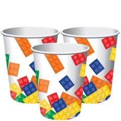 Creative Converting Lego Blokken Bekers - 8 stuks