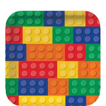 Creative Converting Lego Blokken Borden - 8 stuks - 23 cm