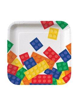Creative Converting Lego Blokken Bordjes - 8 stuks - 17 cm
