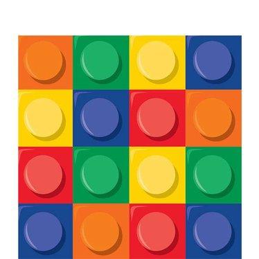 Creative Converting Lego Blokken Servetten - 16 stuks