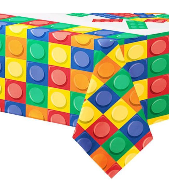 Creative Party Lego Blokken Tafelkleed - 137 x 259 cm - plastic