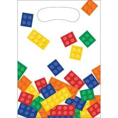 Creative Converting Lego Blokken Uitdeelzakjes - 8 stuks - plastic