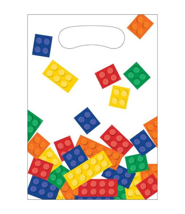 Creative Party Lego Blokken Uitdeelzakjes - 8 stuks - plastic