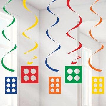 Creative Converting Lego Blokken Hangdecoraties - 5 stuks