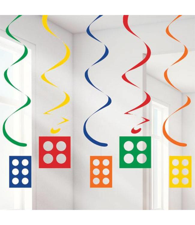 Creative Party Lego Blokken Hangdecoraties - 5 stuks