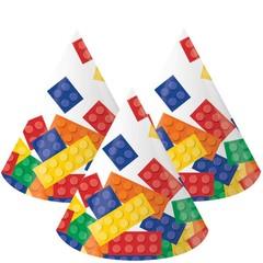 Creative Converting Lego Blokken Hoedjes - 5 stuks
