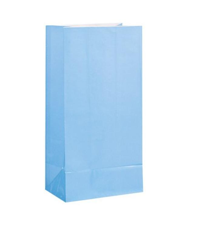 Unique Lichtblauwe Uitdeelzakjes - 12 stuks - papier